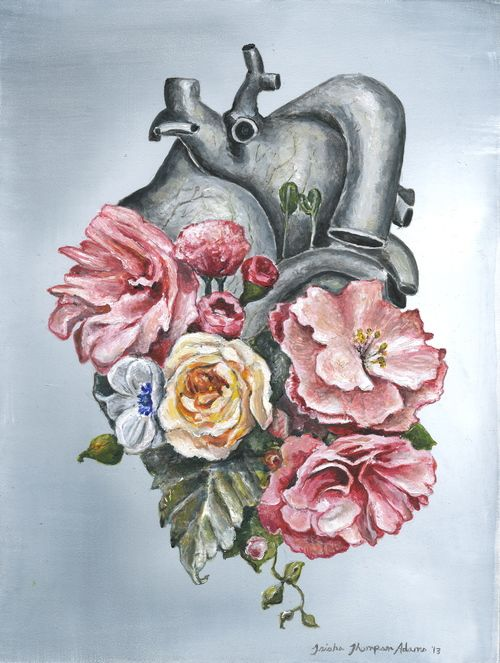 Floral Anatomy: Heart by Trisha Thompson Adams | ANATOMICAL HEARTS ...