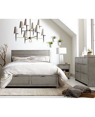 tribeca grey storage platform bedroom furniture collection created rh pinterest com