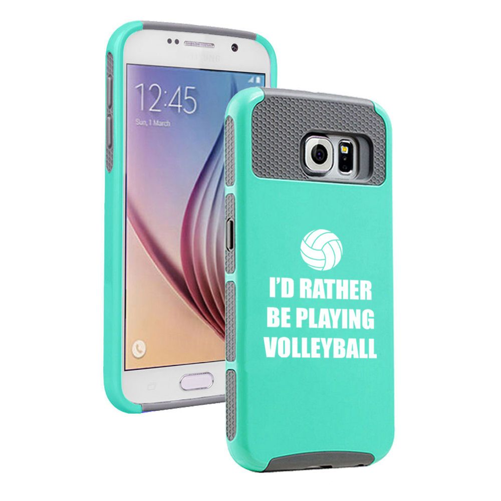 Samsung Galaxy S5 S6 Edge Shockproof Impact Case Rather Be Playing Volleyball In Cell Phones Acces Iphone Cell Phone Cases Volleyball Phone Cases Phone Cases