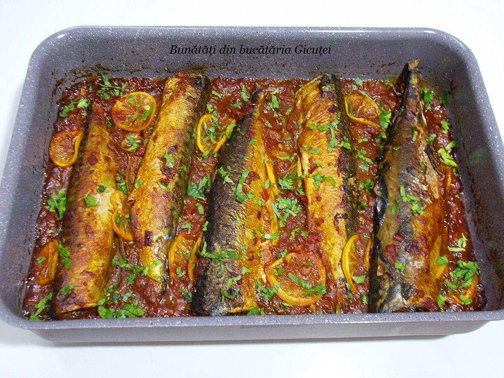 Macrou Cu Sos De Rosii La Cuptor Bunătăți Din Bucătăria Gicuței Rețete Culinare Gătit Rețete Cu Macrou