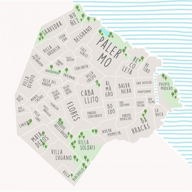 Un Mapa Interactivo Para Sobrevolar Buenos Aires Descubrir Lo Más Destacado De Cada Barrio Y Eso Que Nos En Mapa Interactivo Buenos Aires Turismo Buenos Aires