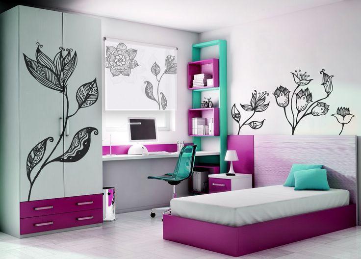 Resultado de imagen para cuadros decorativos para - Habitaciones juveniles ninas ...