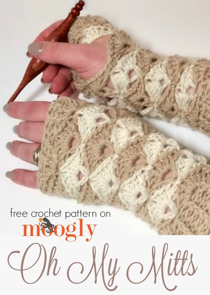 Oh My Mitts Free Crochet Pattern On Mooglyblog Theres A