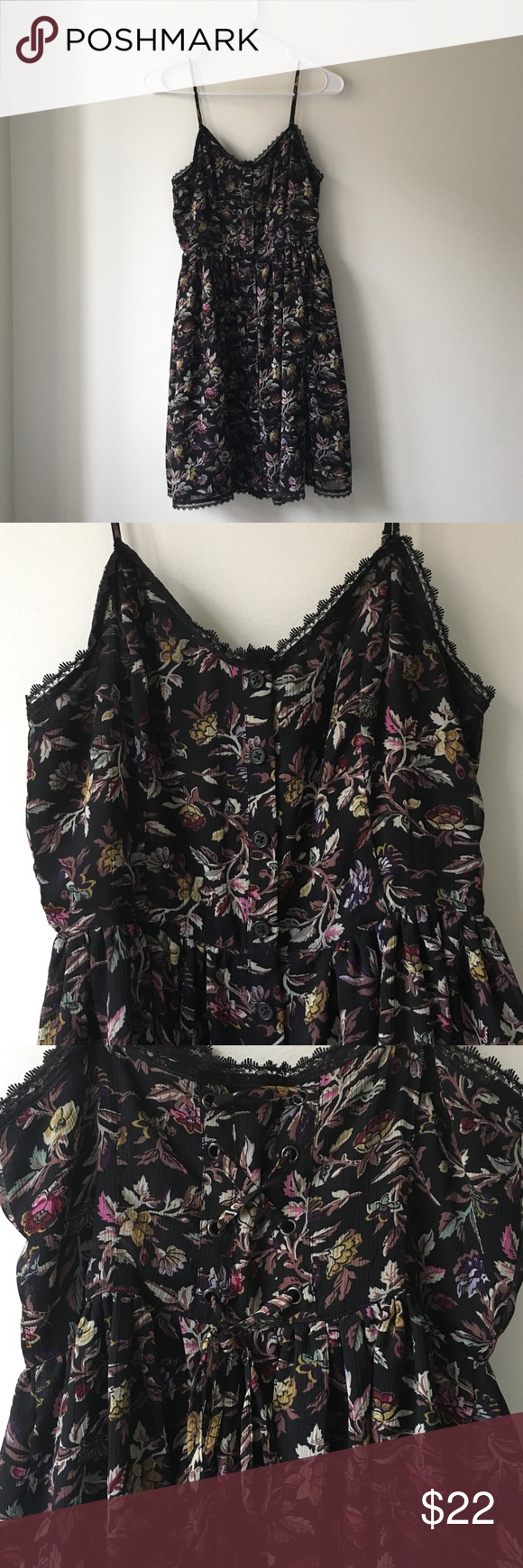 Urban Outfitters Reformed Floral Cross Tie Dress Been wormed but still in really great condition. Urban Outfitters Dresses