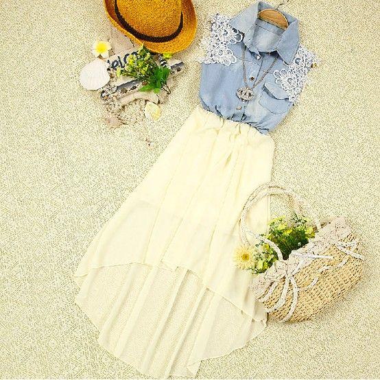 helemaal zomer met deze bloemige outfit
