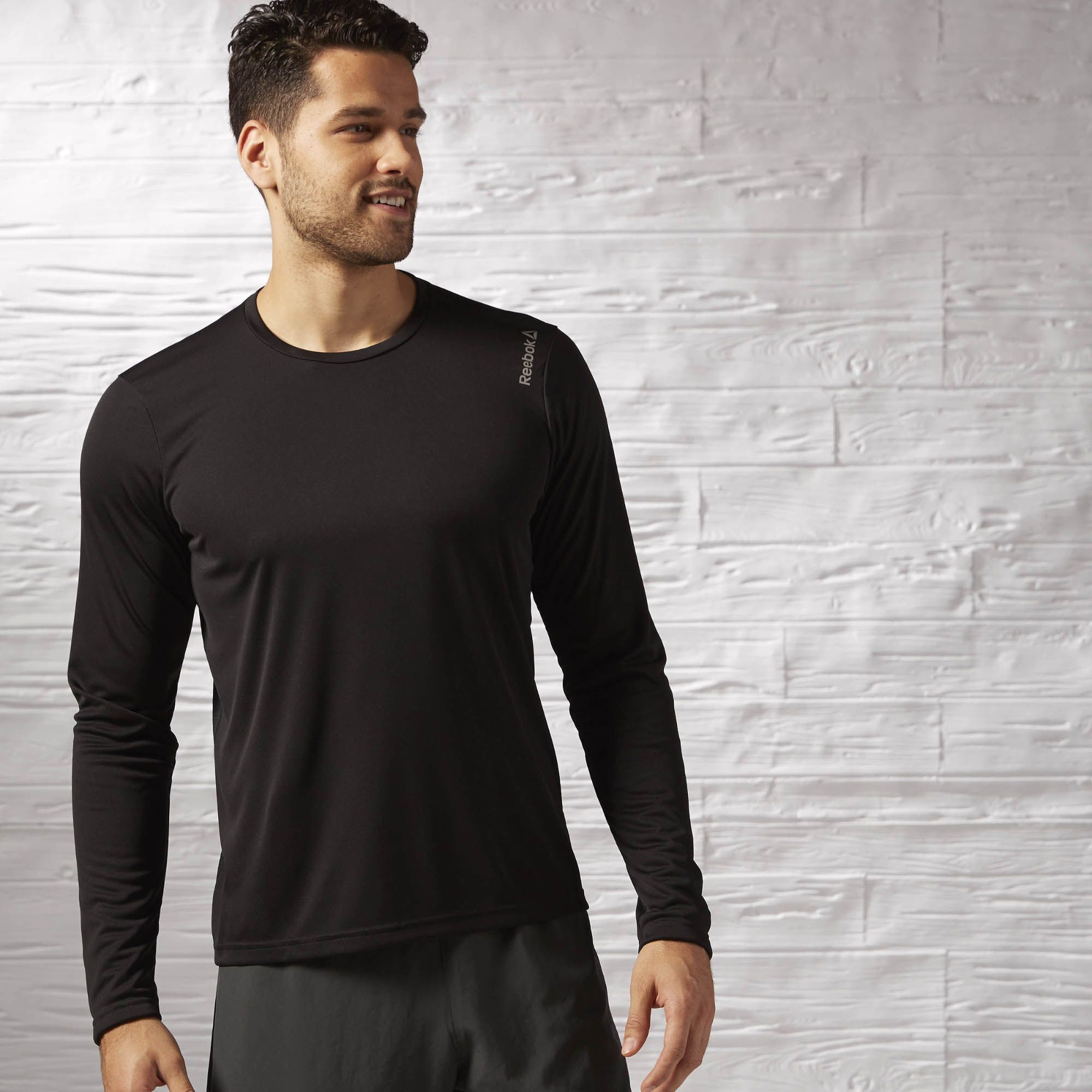 Reebok Running Essential Mens Long Sleeve Running Top Black