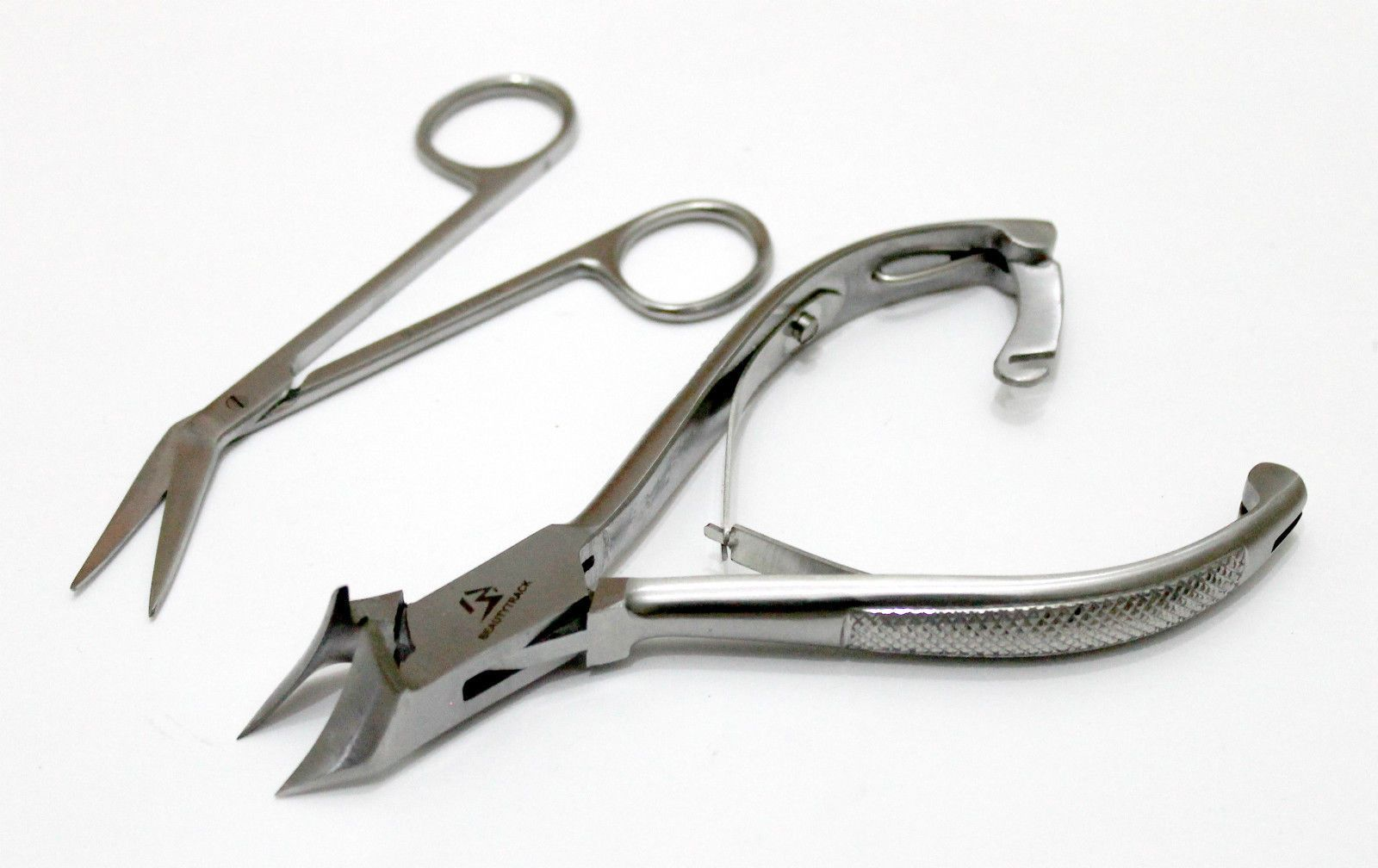 Extra Long Toe Nail Scissors Clippers Cutters + Ingrown Nail Nipper ...