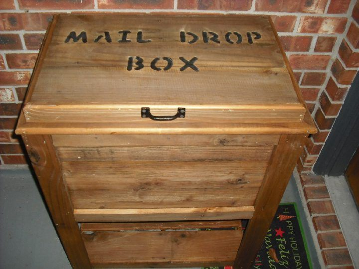 Wood Mail Box Chest Parcel Box Woodworking Rustic Woodworking