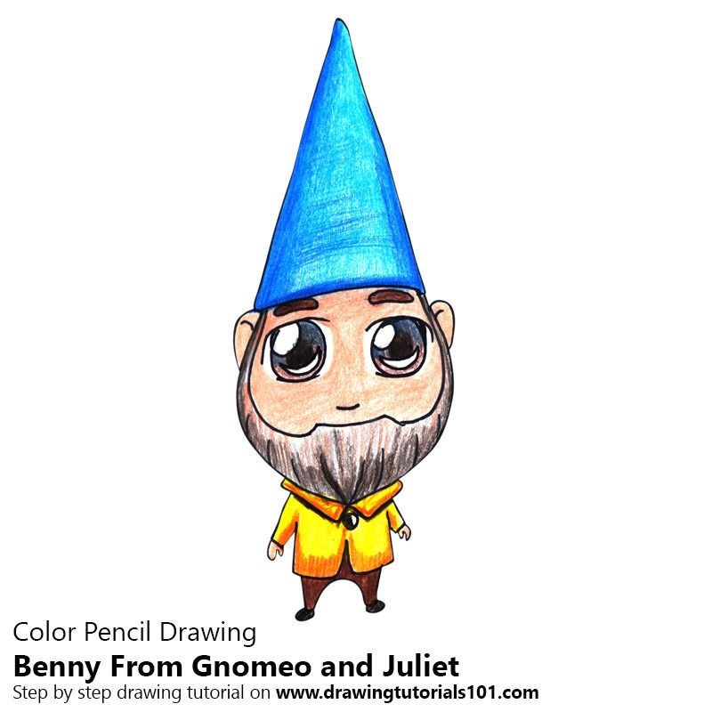 chibi benny from gnomeo and juliet drawing tutorials pinterest