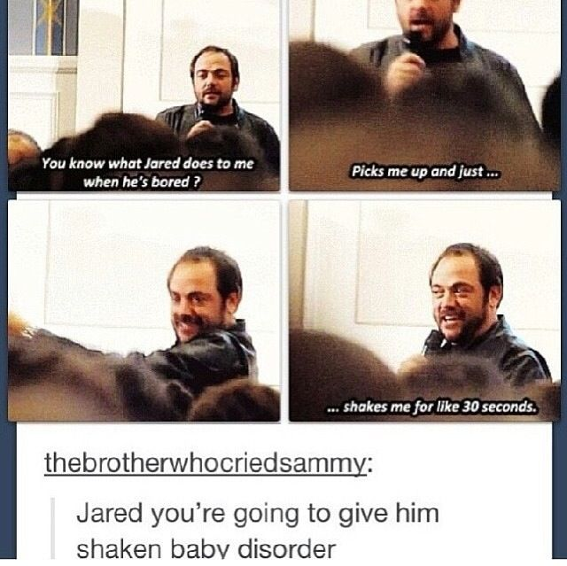 I love how Jared is just this big goofball who shakes Mark Sheppard and acts like Osric Chau's personal jungle gym.