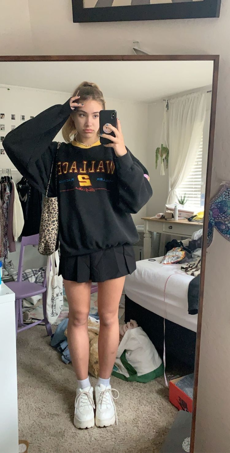 Aesthetic Skater Skirt In 2020 Tennis Skirt Outfit Fashion Inspo Outfits Cute Casual Outfits