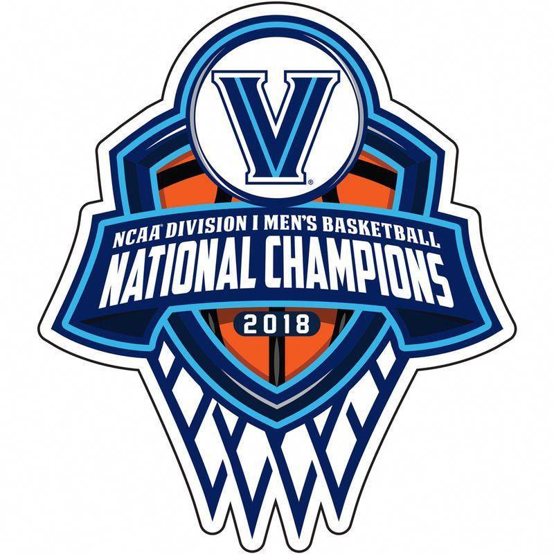 Villanova Wildcats 2018 Ncaa Men S Basketball National Champions 6 X 6 Decal Mensbasketball National Champions Villanova Wildcats Basketball