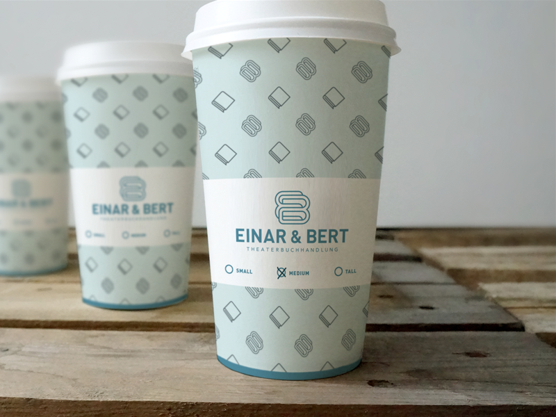 Eb Coffee Cups Paper Coffee Cup Coffee Cup Design Monogram Design