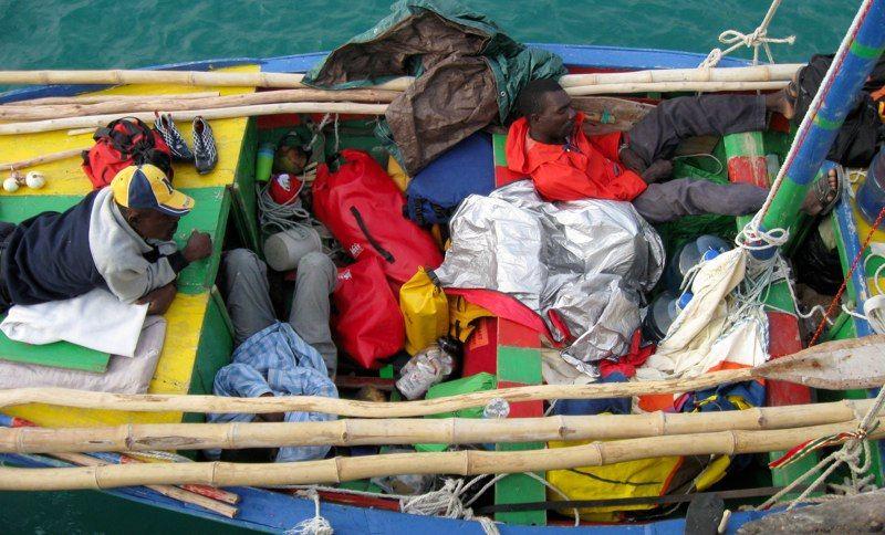 "Crew of ""Sipriz"" (surprise in Haitian)"