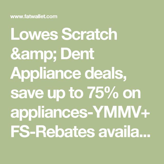 Lowes appliance deals