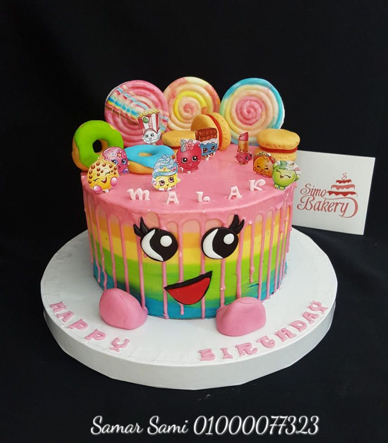 Shopkins Striped Buttercream Birthday Cake By Simo Bakery Con
