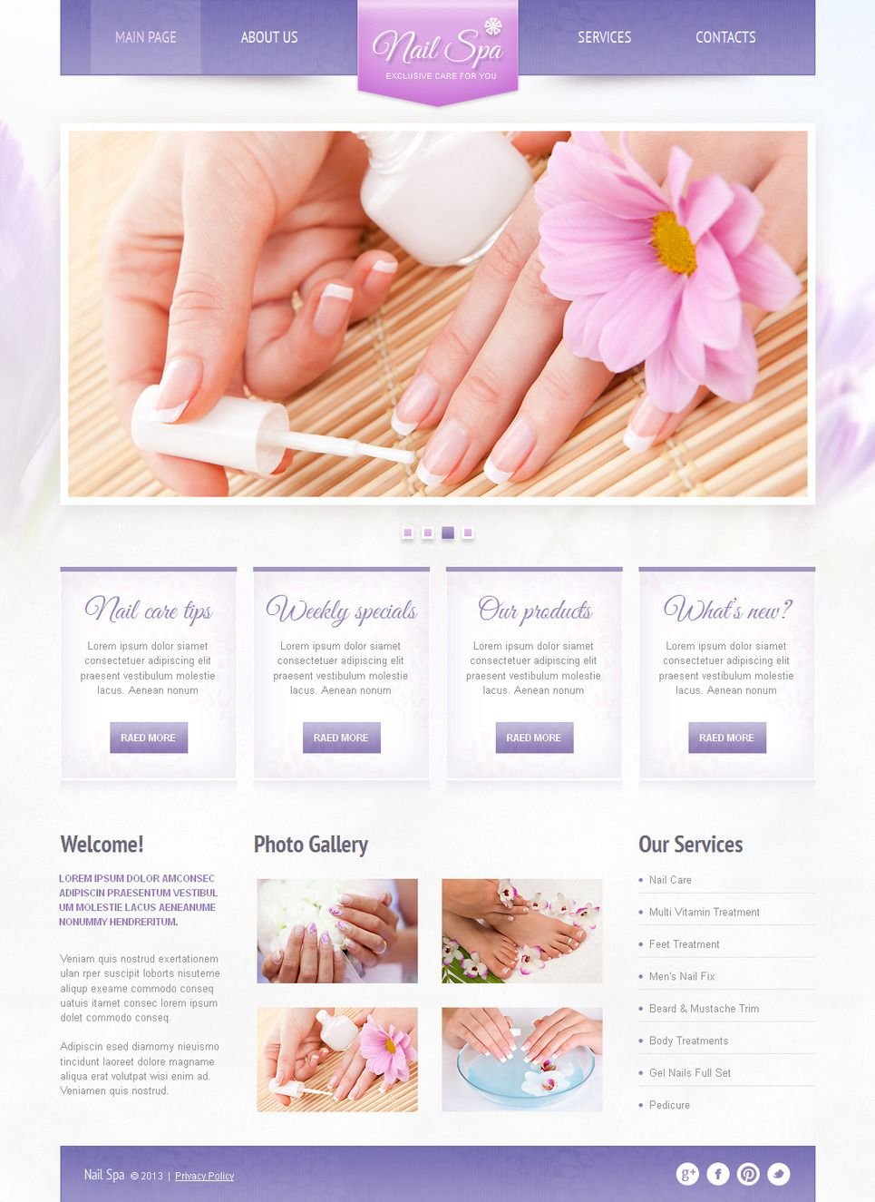 Nail Salon Moto CMS HTML Template #42459 | Advertising Poster | Html ...