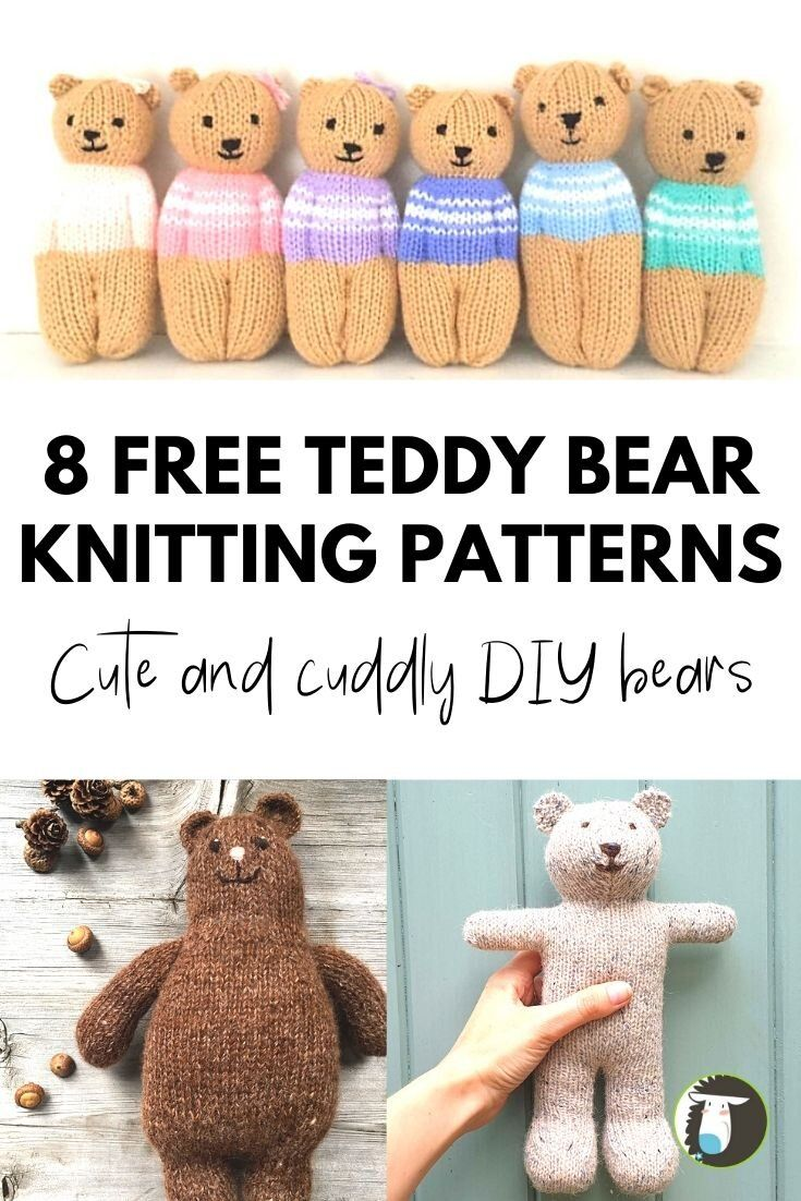Photo of 8 Cutest Teddy Bears Free Knitting Patterns — Blog.NobleKnits