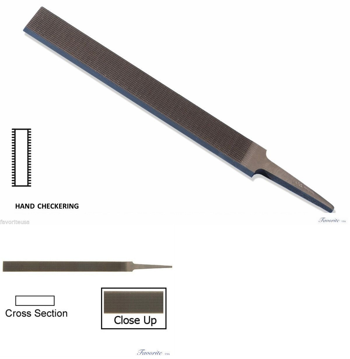 Files and Rifflers 179255: Grobet Swiss-Vallorbe Hand Checkering File - 8 Long-Cuts # 00-0-1-2 BUY IT NOW ONLY: $45.5