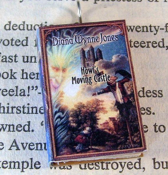 Miniature Classic Novels Book Necklace Charm Howl's Moving Castle