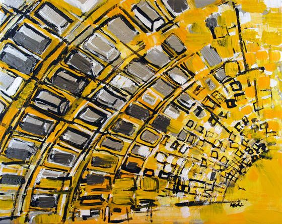Indiewalls: 2013-030 Metro Station in Yellow and Silver, Washi by Alyse Radenovic