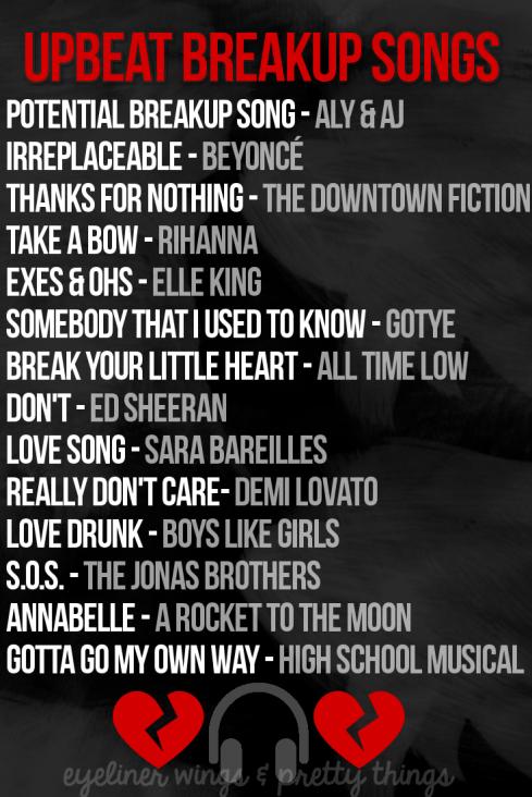 Best songs after a breakup