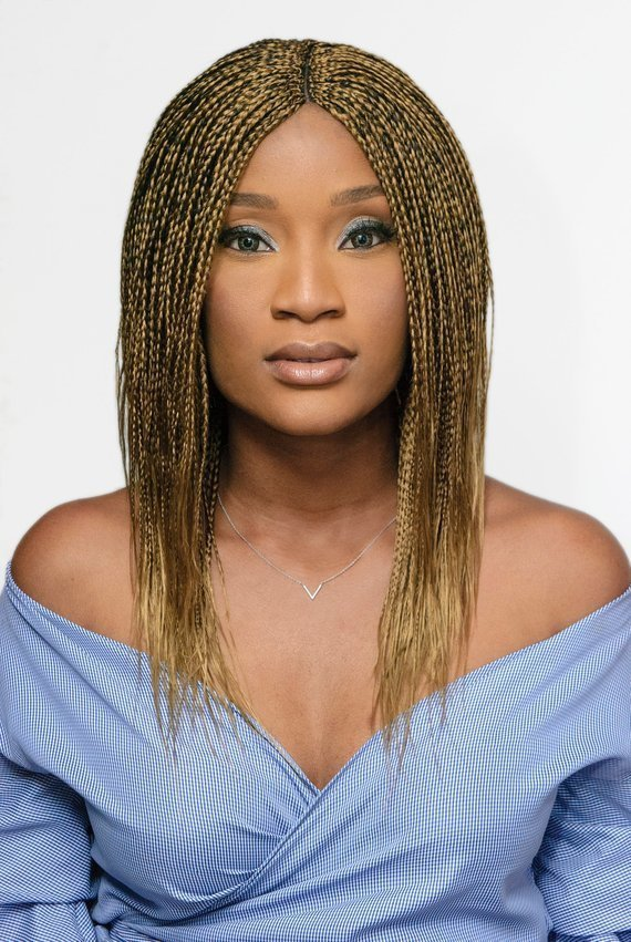 Feathered Bob Wig Honey Blonde Black Mix In 2019