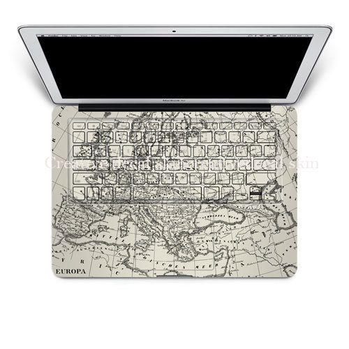 Map mac decal macbook pro decals keyboard by