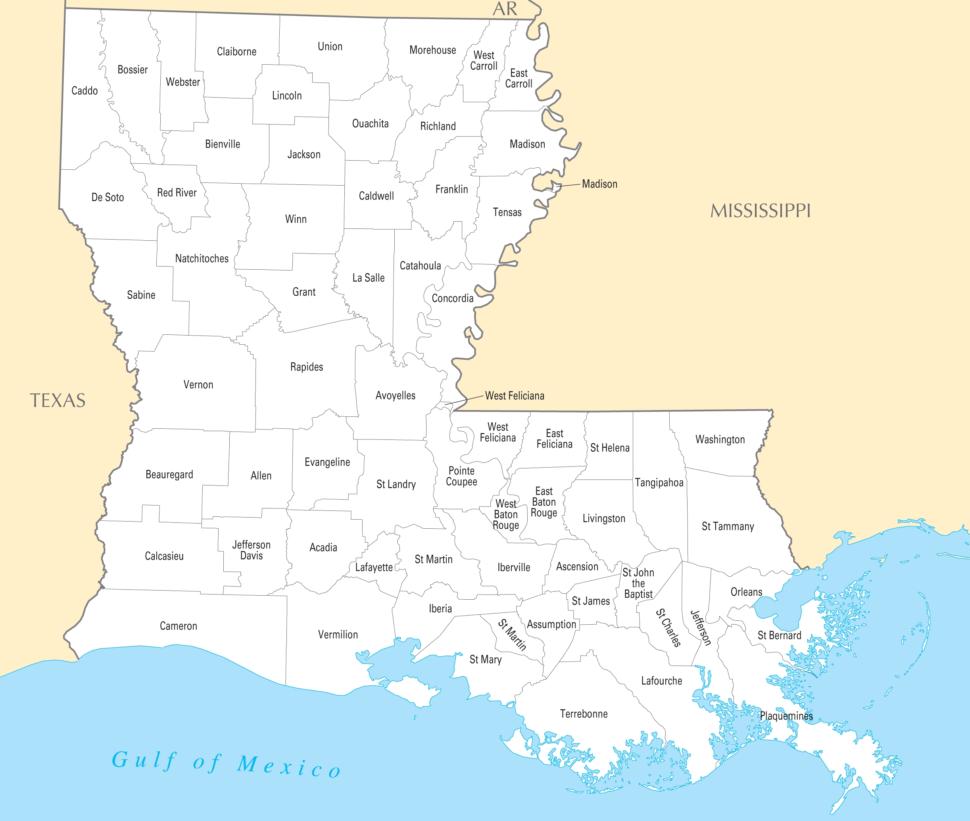 MapWhere Is Louisiana Louisiana Maps Mapsof louisiana map Kids