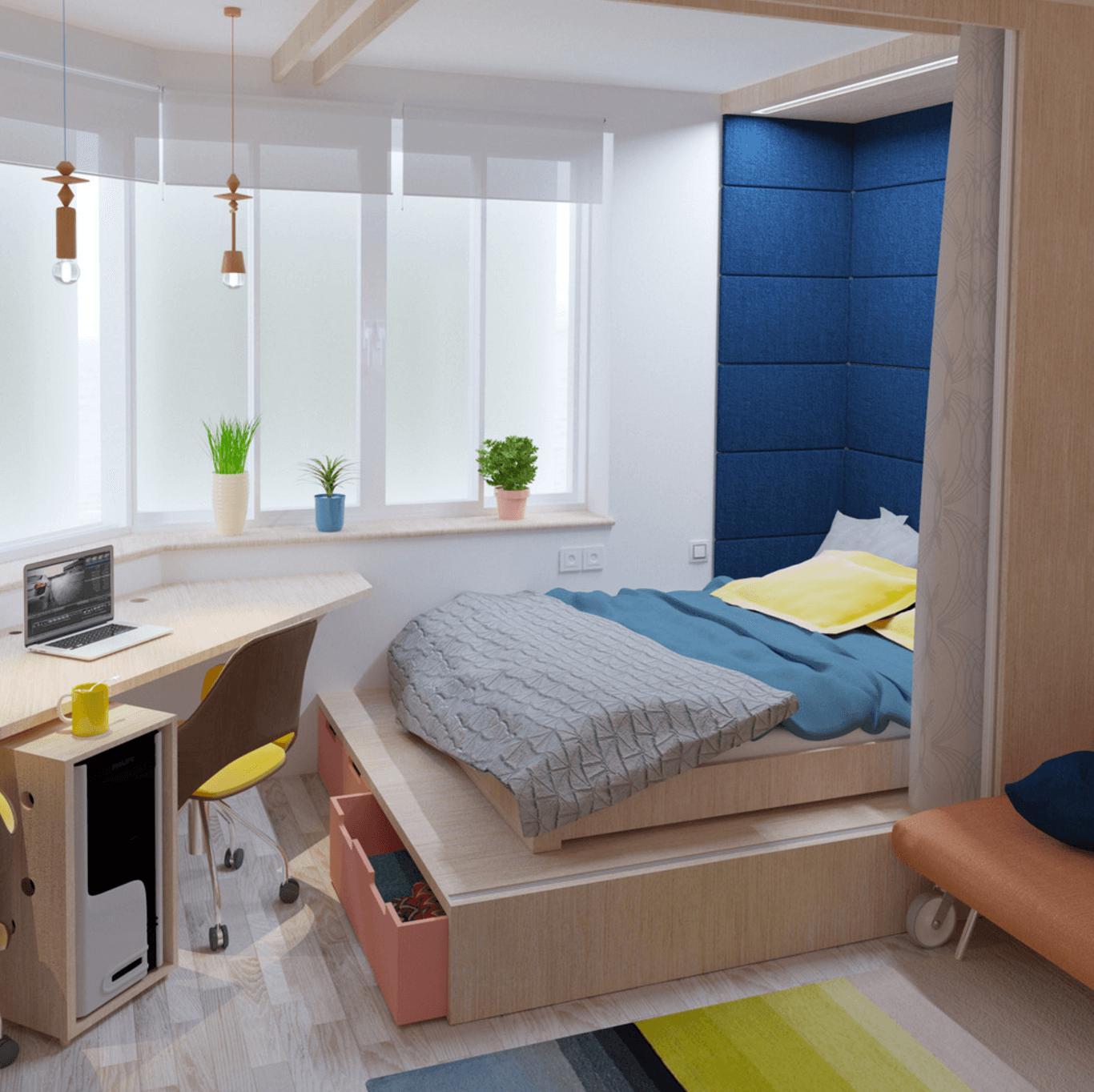 Bedroom On The Podium. One Room ApartmentApartment DesignThe  PodiumApartments
