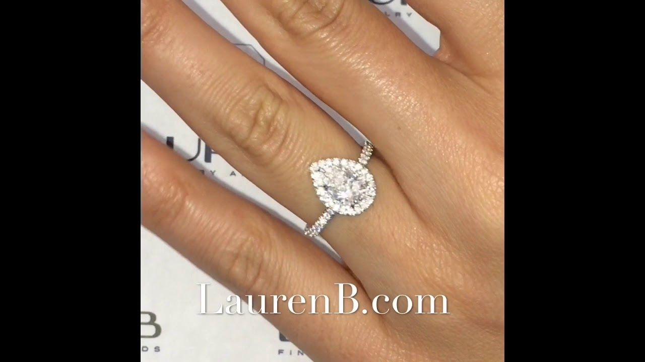 1 Carat Pear Shape Diamond Engagement Ring Pear Shaped Diamond Engagement Rings Engagement Rings Diamond Engagement Rings
