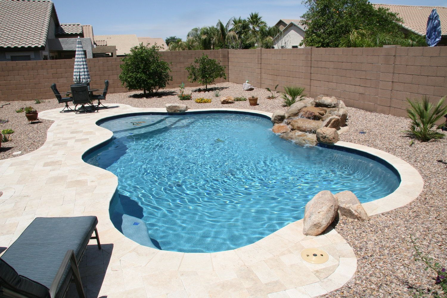 Simple Backyards Presidential Pools Spas Patio Of Arizona