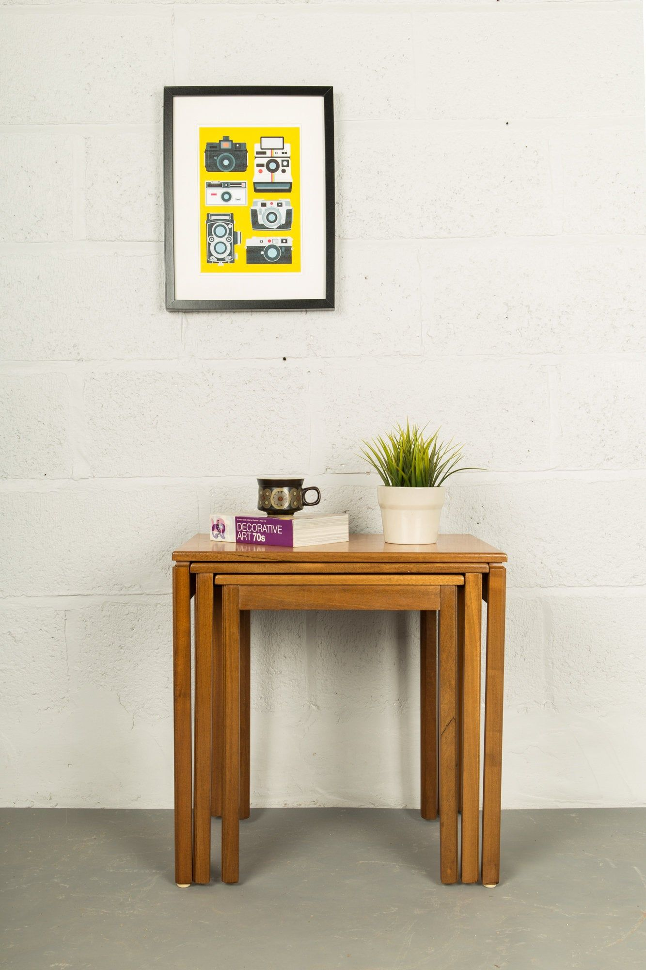 Retro Teak Nesting Tables Coffee Side Table By Mcintosh Vintage Mid Century Nesting Tables Table Teak