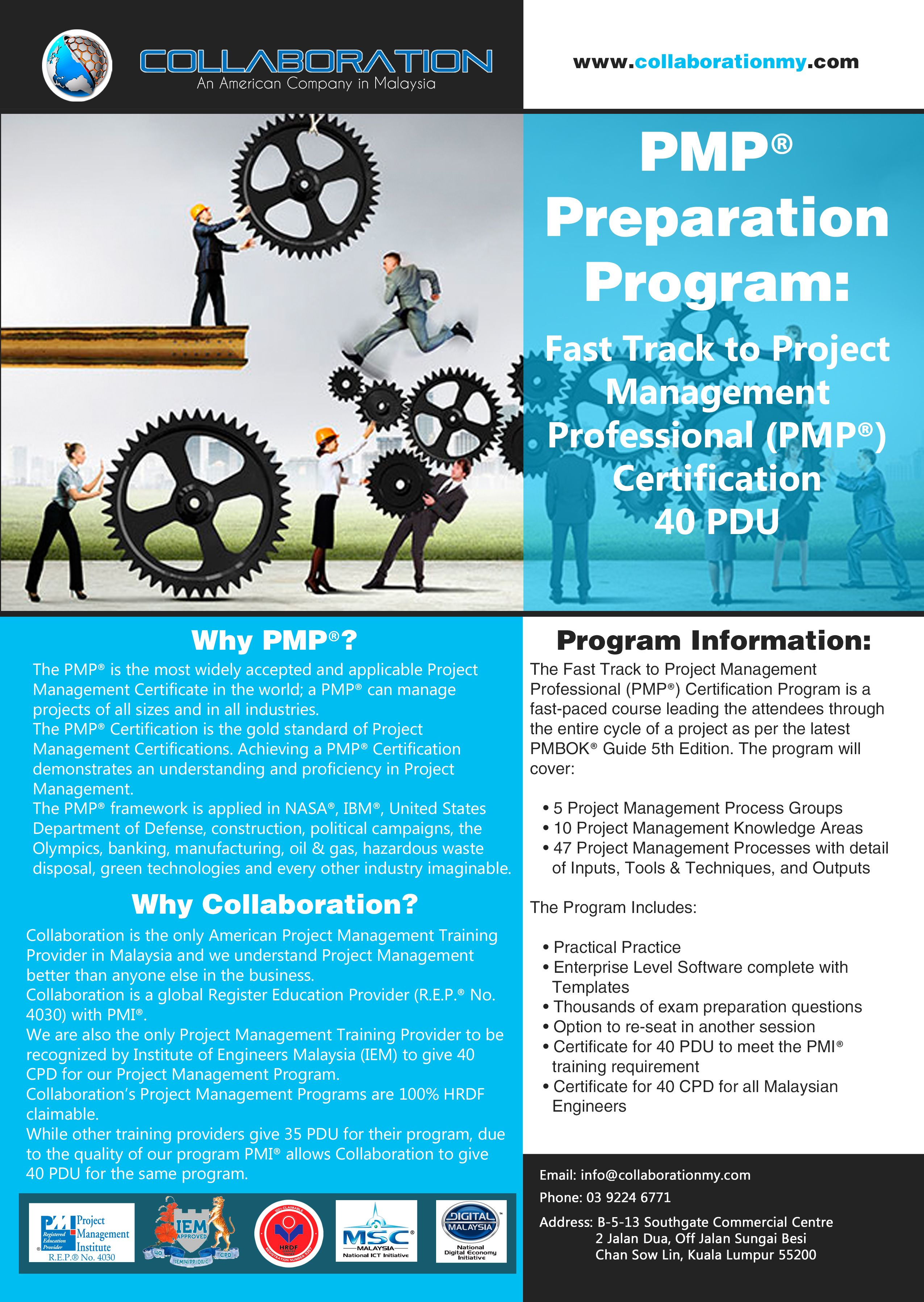 Our pmp preparation program flyer for 2015 pmp pmi rep what the best project management training programs in malaysia taught by project management professionals pmp from the u xflitez Gallery