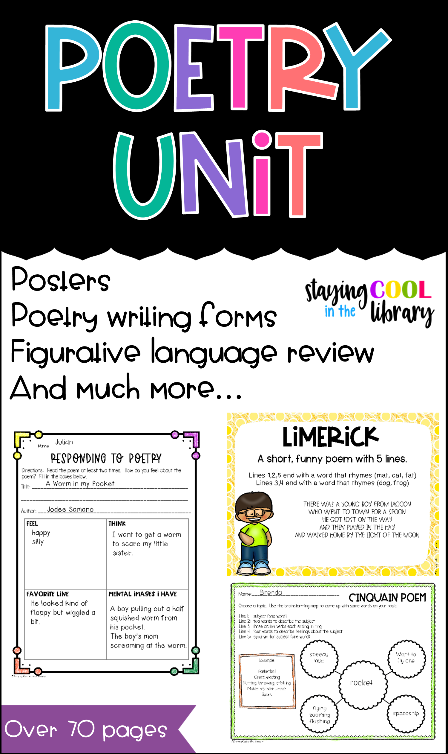 Poetry Unit Activity Pack