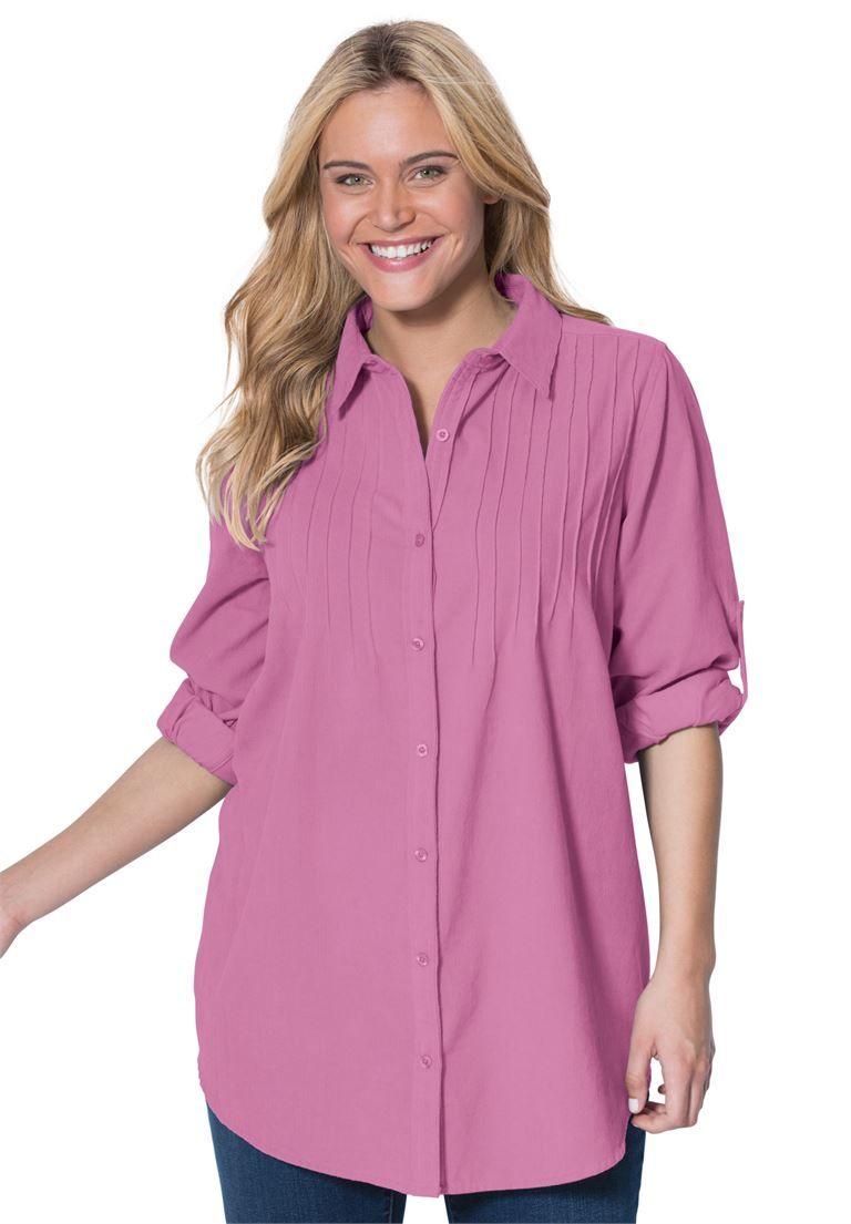 0f59949f47e93 Shirt in soft cotton pinwale corduroy with pintucks