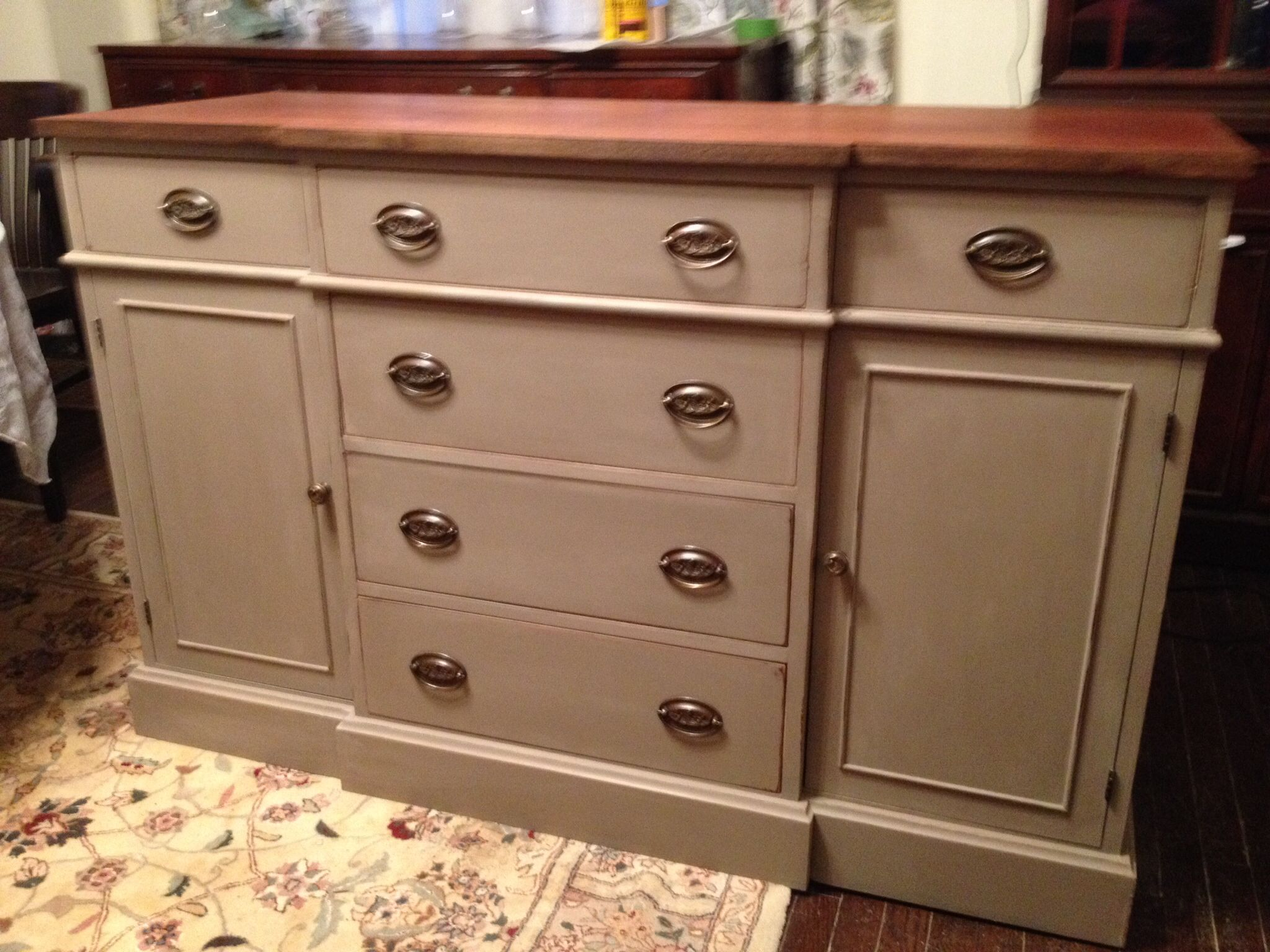 Mahogany buffet in Annie Sloan Cocoa. | Finished Projects | Pinterest