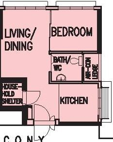 Hdb 2 Room Bto 38 Sqm Floor Plans House Layouts House Plans