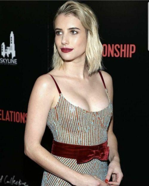 Emma Roberts tight dress