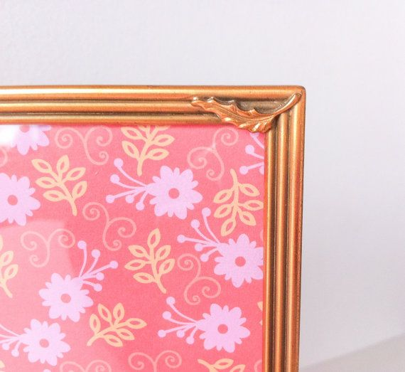 Vintage Gold Double Picture Frame 5x7 Metal Frame by RetroTiles #gift for grandma #picture of two kids
