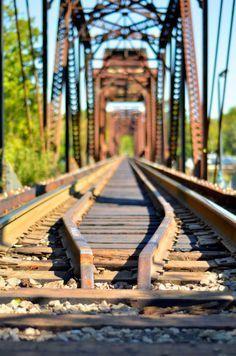 Landscape Photography, Rustic Train Trestle