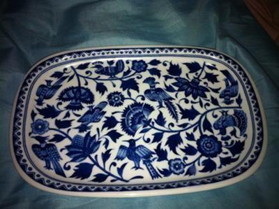 Blue \u0026 White Platter   Antique Marks & Blue \u0026 White Platter   Antique Marks   Blue \u0026 White China ...