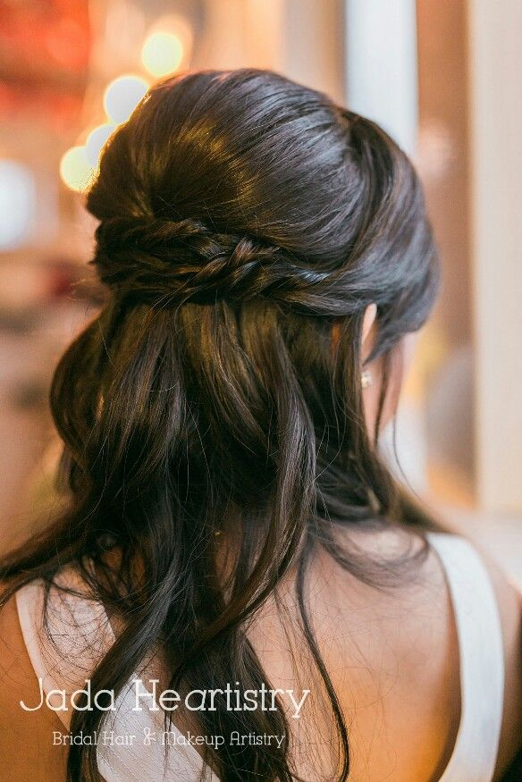 Bridal Braid Half Updo Hairstyle Jadaheartistry Asian Asian Wedding Hair Asian Hair Updo Long Hair Updo