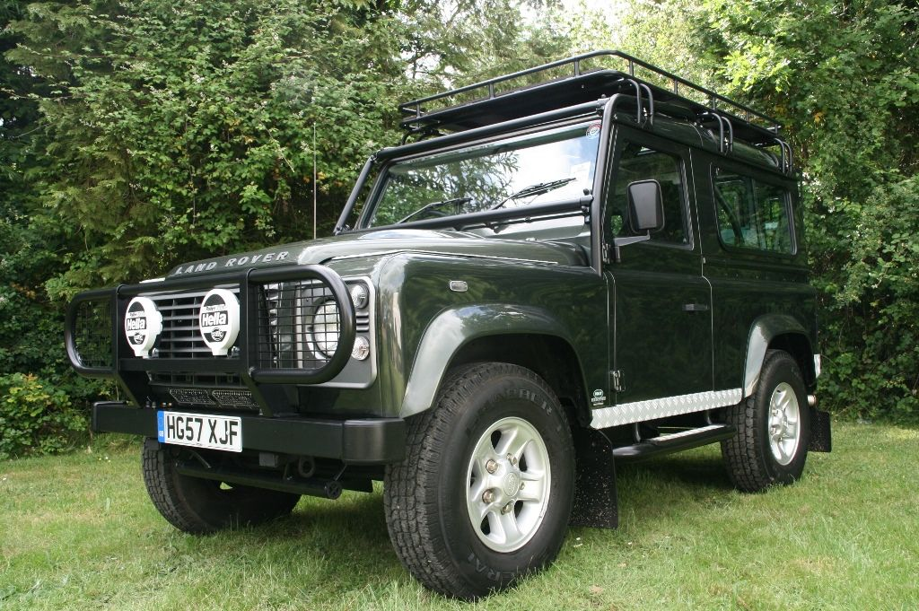 Land Rover Defender 90 Exported To Kenya With Electric Sunroof And Modified Roof Rack For Viewing