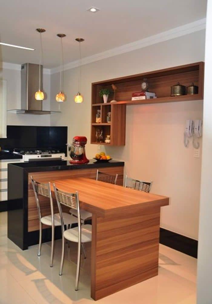 Cozinha Americana Pequena Dicas E Fotos Mesa Para Cozinha