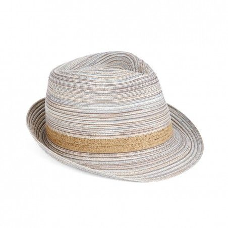 Sole Society - Mix Straw Fedora - Blue Multi
