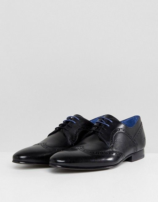 Ted Baker Ollivur Leather Brogue Shoes In XyxXYAVB0