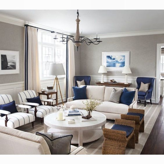 10+ Most Popular Navy Grey Living Room