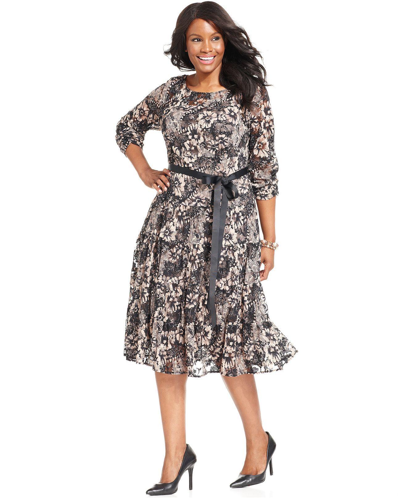3b79c72c2a35d SL Fashions Plus Size Dress