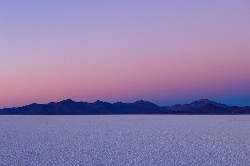 Dawn breaks over the Salar de Uyuni / Aug.